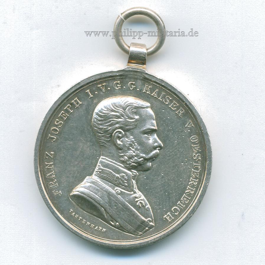 österreich Silberne Tapferkeitsmedaille Kaiser Franz Joseph