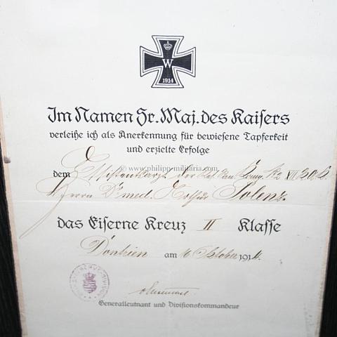 Eisernes Kreuz 2. Klasse 1914 am Band für Nichtkämpfer mit ...